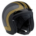 Bonanza Helmet Limited Edition Fury Gloss Black/Grey/Metallic Gold XXL