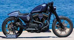 Výfuk Sportster 2-1 Racing Exhaust Black / F.Kodlin