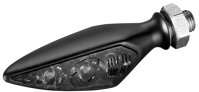 Kellermann, Rhombus S Dark Turn Signal FL/RR, Tinted Lens, Black