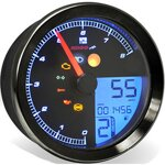 KOSO HD-01 Speedo/Tacho, Black