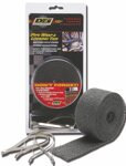 Termopáska Bandáž 2IN x 25FT BLACK EXHAUST WRAP + TIES KIT