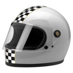 Gringo S Helmet Limited Edition Checker Metallic Silver