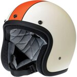 Bonanza Helmet Racer Flat Cream/Orange