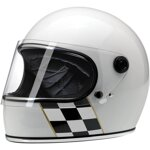 Gringo S Helmet Checker Stripe Gloss White