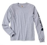 Triko Sleeve Logo L/S Heather Grey / Carhartt