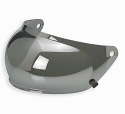 Bubble Plexi Biltwell Gringo S  Chrome Mirror Anti-Fog