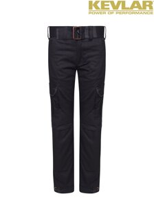 Kalhoty John Doe Slim Cargo Black with Kevlar ®